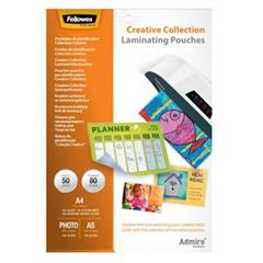 Laminovacia fólia Fellowes Creative Collection 80mic 30ks A4, 10ks A5, 10ks 10x15